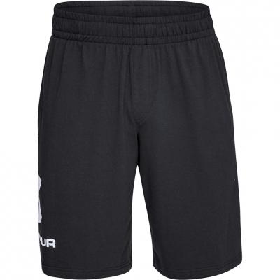 Pantaloni scurti barbati Under Armor Sportstyle bumbac Logo negru 1329300-001