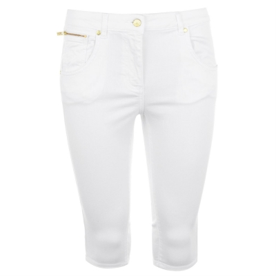 Pantaloni scurti Biba Biba ciclism alb