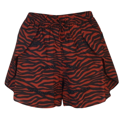 Pantaloni scurti Biba Tiger Beaded maro