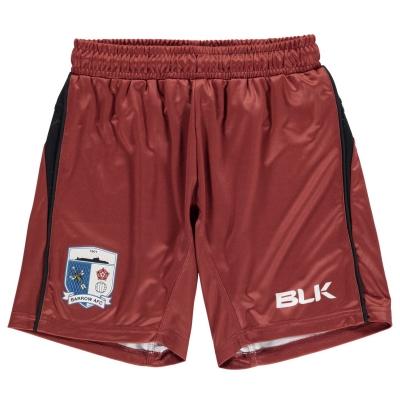 Pantaloni scurti BLK Barrow AFC Acasa pentru Copii maro inchis rosu