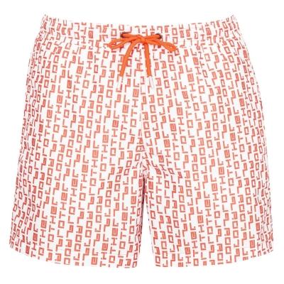 Pantaloni scurti Blood Brother Duke alb portocaliu