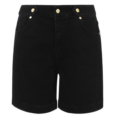 Pantaloni scurti blugi Biba Button negru