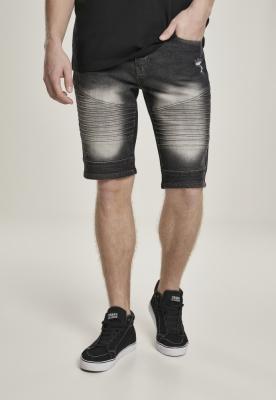 Pantaloni scurti blugi Biker bk.sand Southpole negru