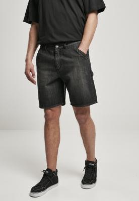 Pantaloni scurti Blugi Carpenter negru-washed Urban Classics real