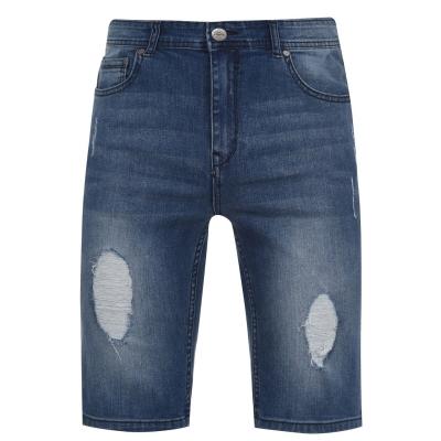 Pantaloni scurti blugi Fabric pentru Barbati mid wash