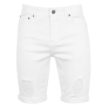 Pantaloni scurti blugi Fabric pentru Barbati alb