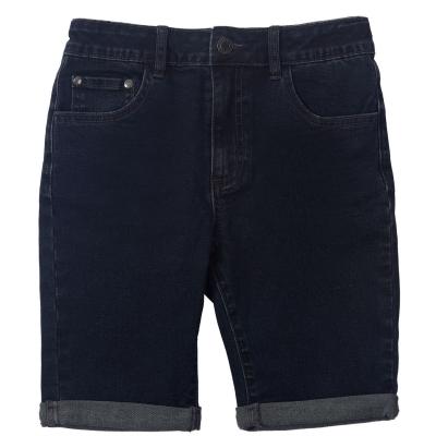 Pantaloni scurti blugi Firetrap pentru baietei inchis albastru