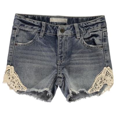 Pantaloni scurti blugi Guess albastru