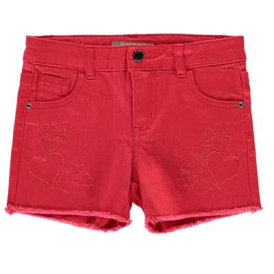Pantaloni scurti blugi Guess Raw gra roz