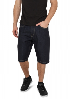 Pantaloni scurti Blugi Loose Fit inchis-albastru Urban Classics