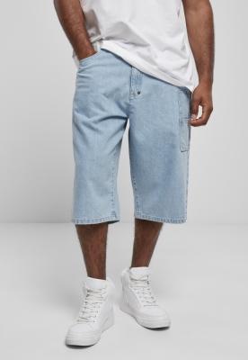 Pantaloni scurti blugi Southpole cu Tape deschis-albastru