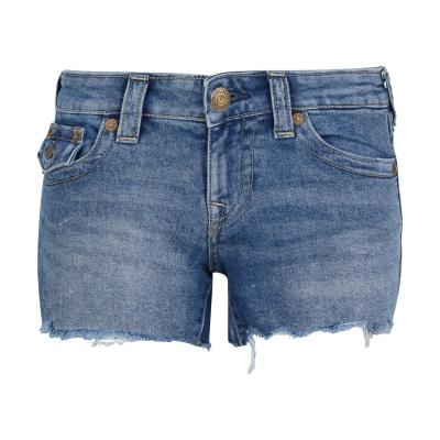 Pantaloni scurti blugi True Religion Joey medium albastru