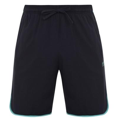Pantaloni scurti BOSS bumbac bleumarin menta
