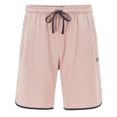 Pantaloni scurti BOSS bumbac roz negru