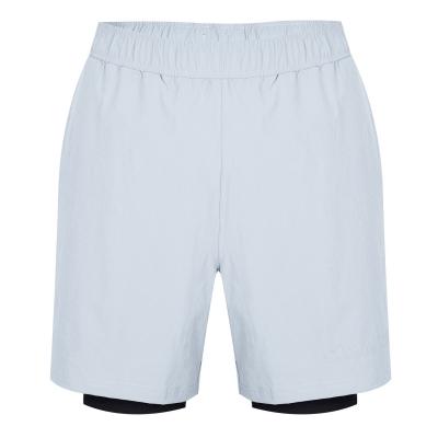 Pantaloni scurti Calvin Klein Performance 2in1 sala tradewind negru