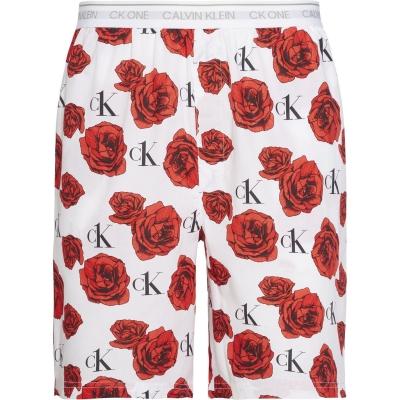 Pantaloni scurti Calvin Klein Print Sleep charming roz pudrat