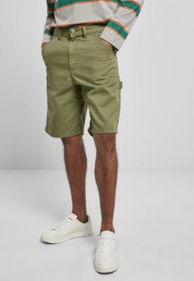 Pantaloni scurti Carpenter verde Urban Classics