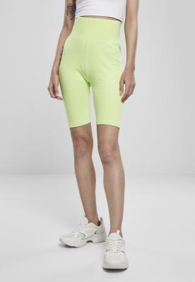 Pantaloni scurti cu talie inalta Cycle pentru Femei electriclime Urban Classics verde