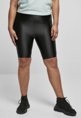 Pantaloni scurti ciclism talie inalta Shiny Metallic pentru Femei negru Urban Classics
