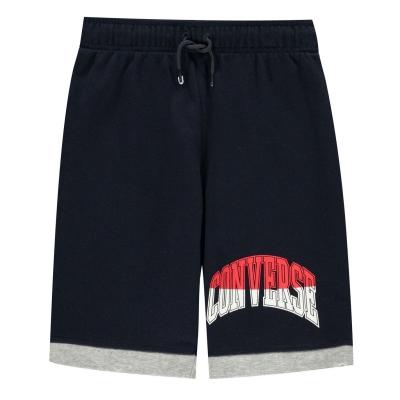 Pantaloni scurti Converse asimetric albastru gri