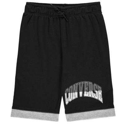 Pantaloni scurti Converse Jersey pentru baietei negru