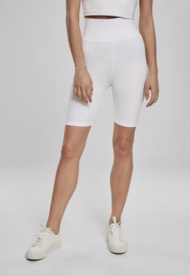 Pantaloni scurti ciclism cu talie inalta pentru Femei alb Urban Classics