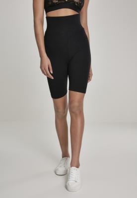 Pantaloni scurti ciclism cu talie inalta pentru Femei negru Urban Classics