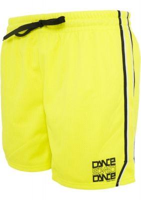 Pantaloni sport din plasa pentru femeie Dance galben-negru Urban Dance