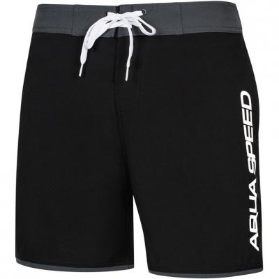 Pantaloni scurti de baie barbati Aqua-Speed Evan negru gri Col13 pentru femei
