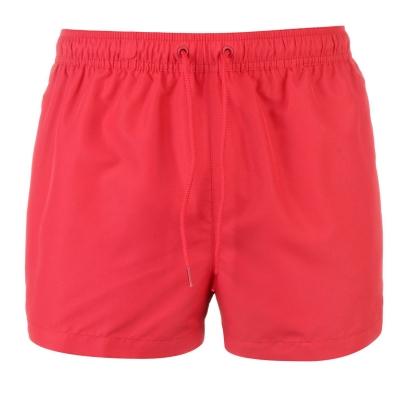 Pantaloni scurti de baie Calvin Klein Tape Logo liptstick rosu