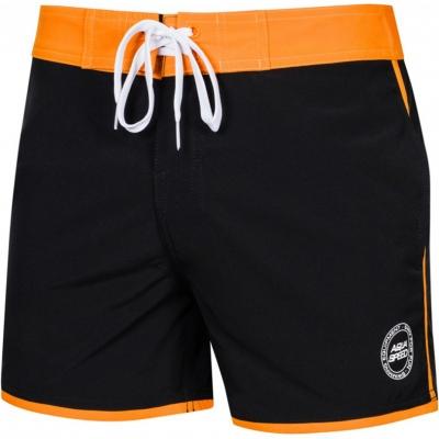 Pantaloni scurti de baie For Aqua-Speed Axel negru portocaliu Kol01 barbati pentru femei