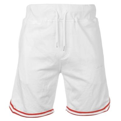 Pantaloni scurti Diesel Panel cu dungi alb