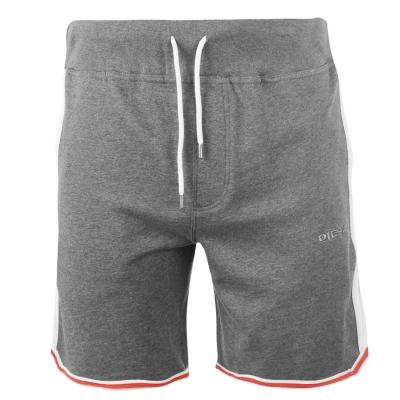 Pantaloni scurti Diesel Panel cu dungi inchis gri mel 96x