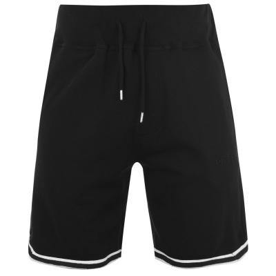 Pantaloni scurti Diesel Panel cu dungi negru