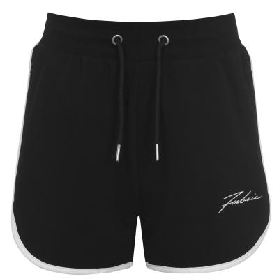 Pantaloni scurti Fabric Panel pentru Femei negru