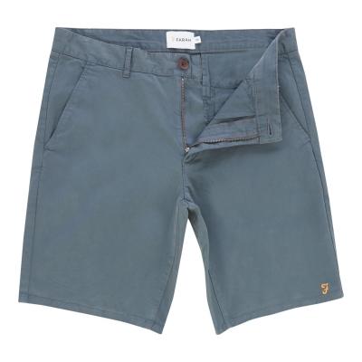 Pantaloni scurti Farah Vintage Hawk Chino albastru