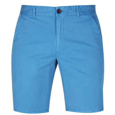 Pantaloni scurti Farah Vintage Hawk Twill mtime albastru
