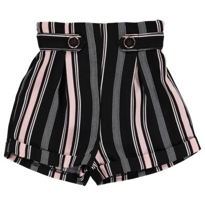 Pantaloni scurti Firetrap Crepe pentru fetite jet dungi