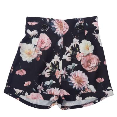 Pantaloni scurti Firetrap Crepe pentru fetite negru floral