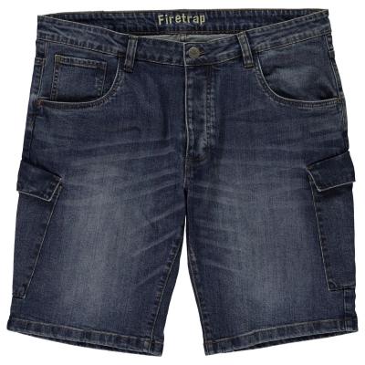 Pantaloni scurti Firetrap Fulham pentru Barbati albastru