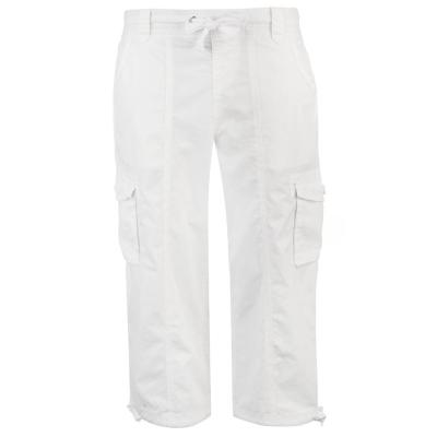 Pantaloni scurti Full Circle Poplin Long pentru Femei alb