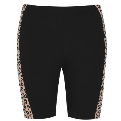 Pantaloni scurti Golddigga negru leopard