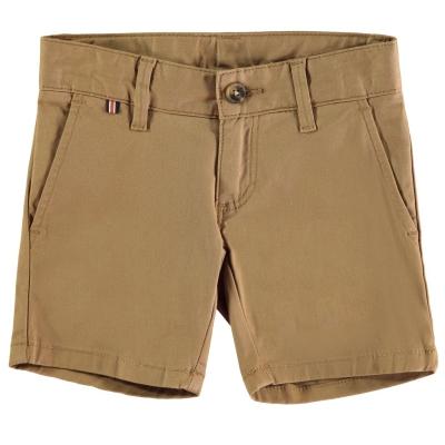 Pantaloni scurti Hackett Hackett Stretch bumbac Twill Chino pentru baieti maro deschis