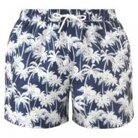 Pantaloni scurti Hot Tuna Palm Print pentru Barbati med albastru