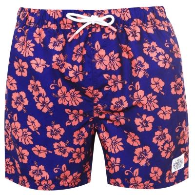 Pantaloni scurti Hot Tuna Printed pentru Barbati albastru roz