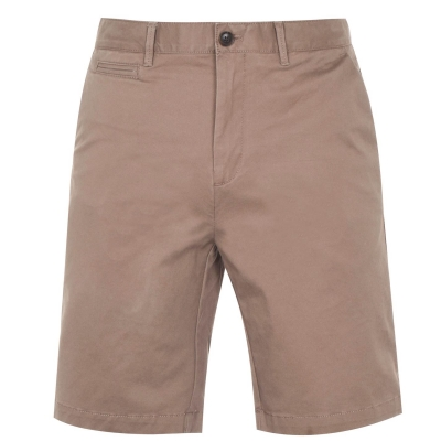 Pantaloni scurti Howick Oakley Slim Chino maro