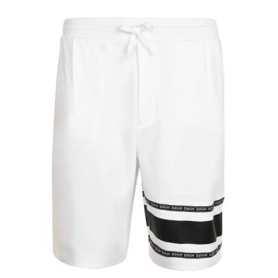 Pantaloni scurti HUGO Logo Tape alb
