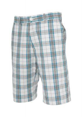 Pantalon scurt in carouri alb-turcoaz Urban Classics negru
