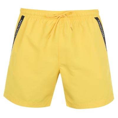 Pantaloni scurti inot Calvin Klein Calvin Diagonal Tape galben