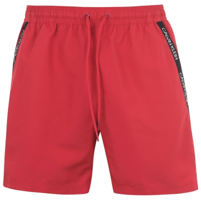 Pantaloni scurti inot Calvin Klein Calvin Diagonal Tape rosu